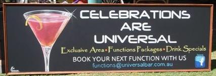 Universal Bar Functions Chalk Board