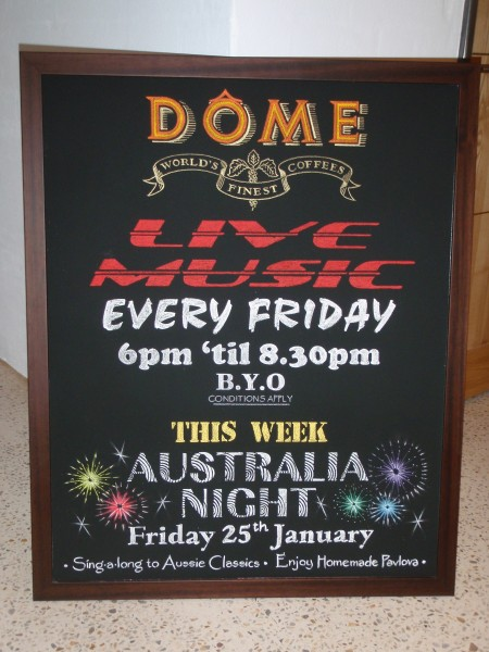 DOME - Live Music board